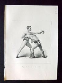 Badminton Library 1893 Antique Boxing Print. Ducking To The Right